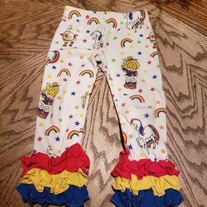 Other - Rainbow brite triple ruffle icing leggings